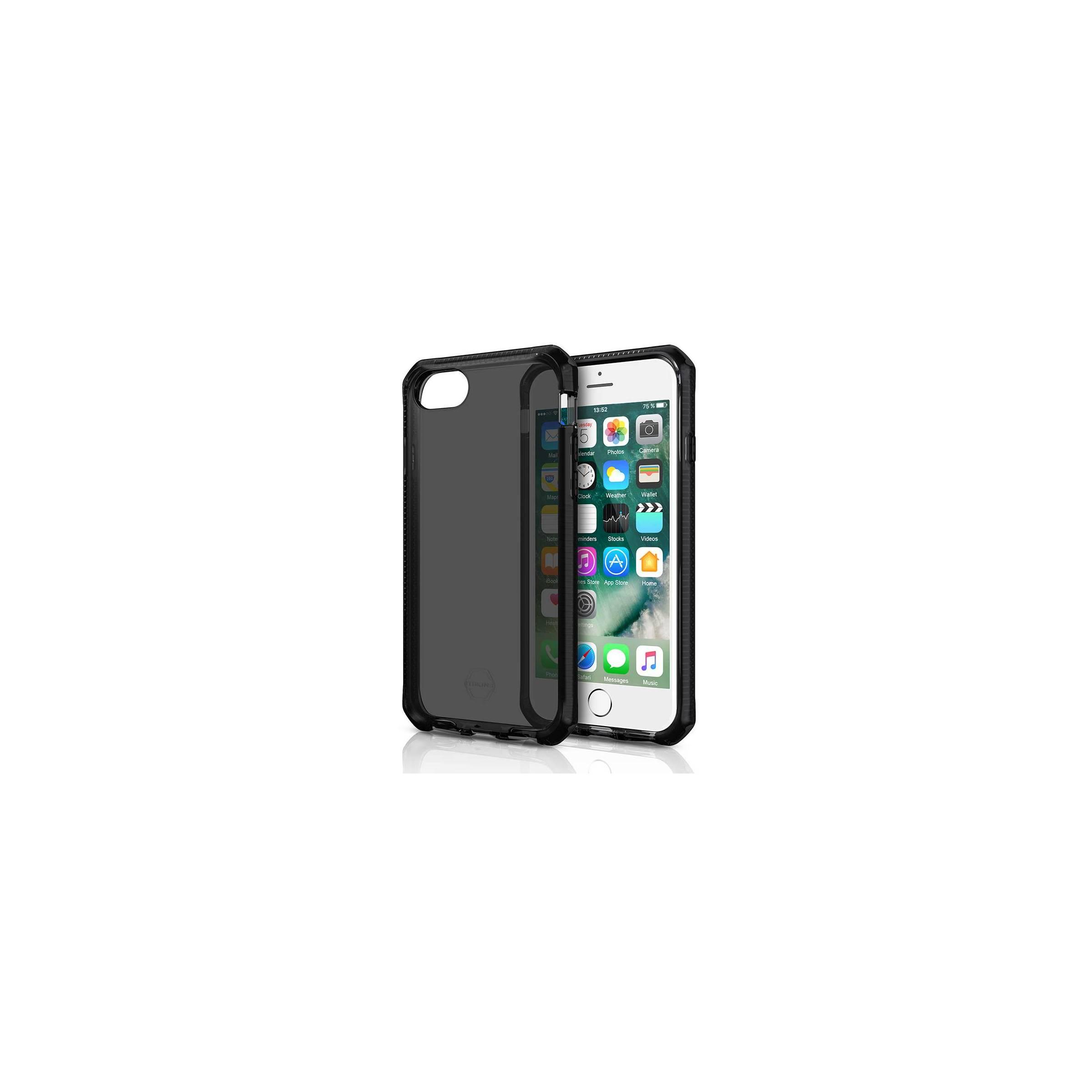 itskins Itskins supreme clear protect cover iphone 6, 6s, 7 & 8 farve sort fra mackabler.dk