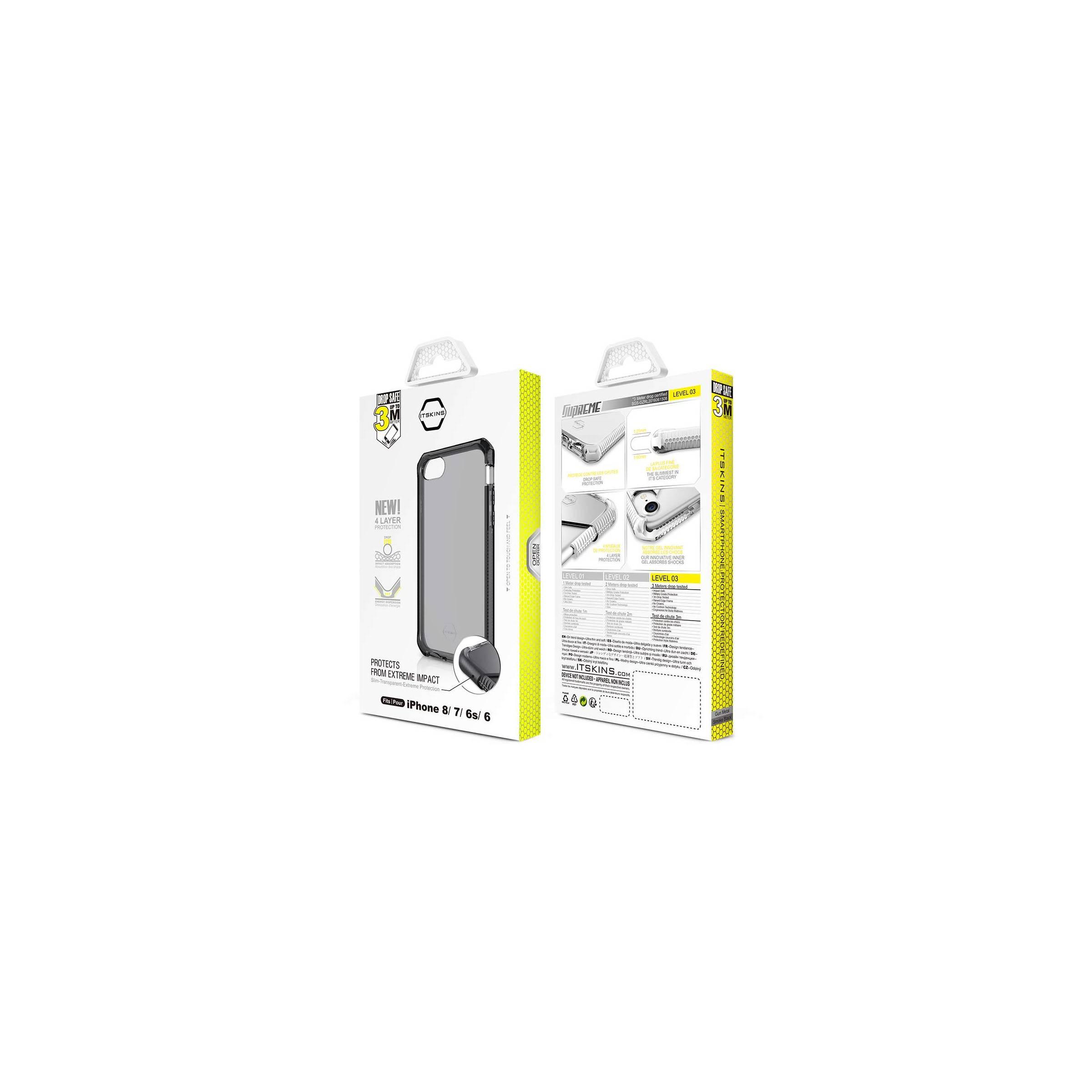 Itskins supreme clear protect cover iphone 6, 6s, 7 & 8 farve grå fra itskins fra mackabler.dk