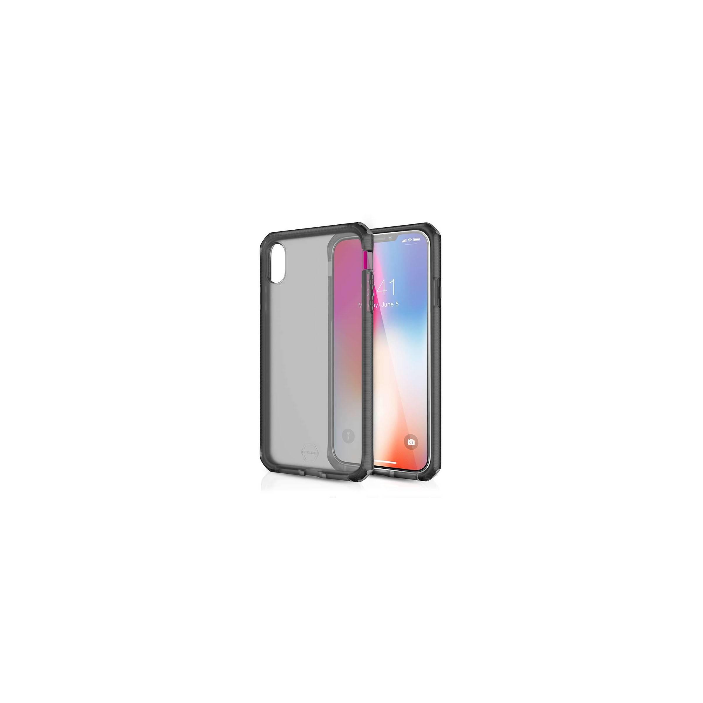 itskins – Itskins supreme clear protect cover iphone xs max farve sort fra mackabler.dk