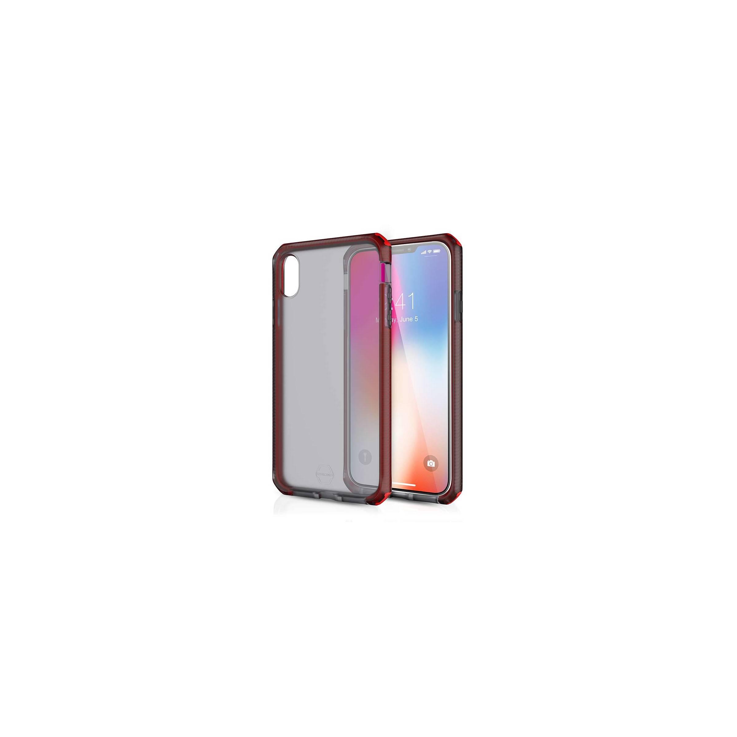 itskins Itskins supreme clear protect cover iphone xs max farve black-red på mackabler.dk