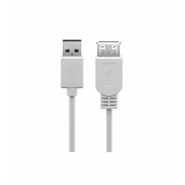 USB 1m forlænger kabel i hvid