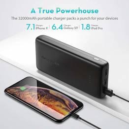 RAVPower Ace Series 32 000 mAh powerbank med 3 x USB i Black