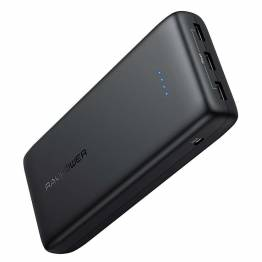 Image of   RAVPower Ace Series 32 000 mAh powerbank med 3 x USB i Black