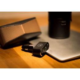 LIFEPower 96W Biloplader USB-C PD & QC 3.0 USB sort