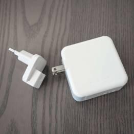RAVPower 2-port 36W USB-C PD og QC 3.0 USB vægoplader, Hvid