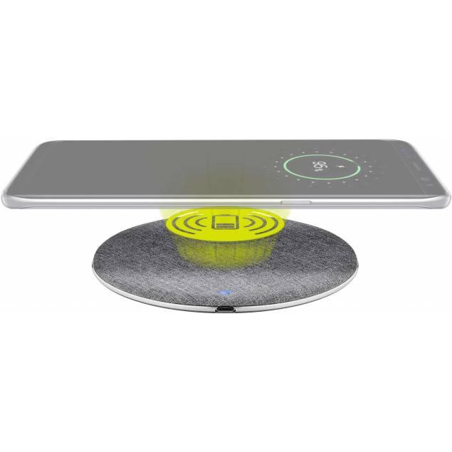 Goobay Hurtig trådløs QI Oplader pad Aluminium/silver