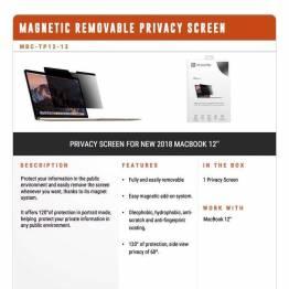 """Privacy filter glas til MacBook 12"""" 2015 og frem fra XtremeMac"""