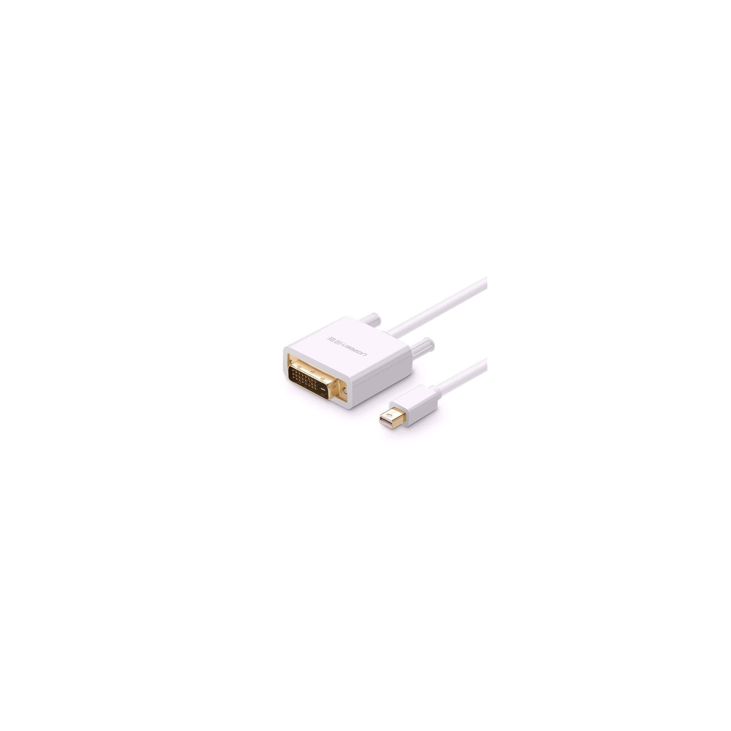 ugreen Mini displayport til dvi kabel 2m hvid ugreen fra mackabler.dk