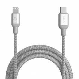 Image of   Adam Elements USB-C til Lightning kabel MFi 1,2m sort/sølv Farve Sølv farve