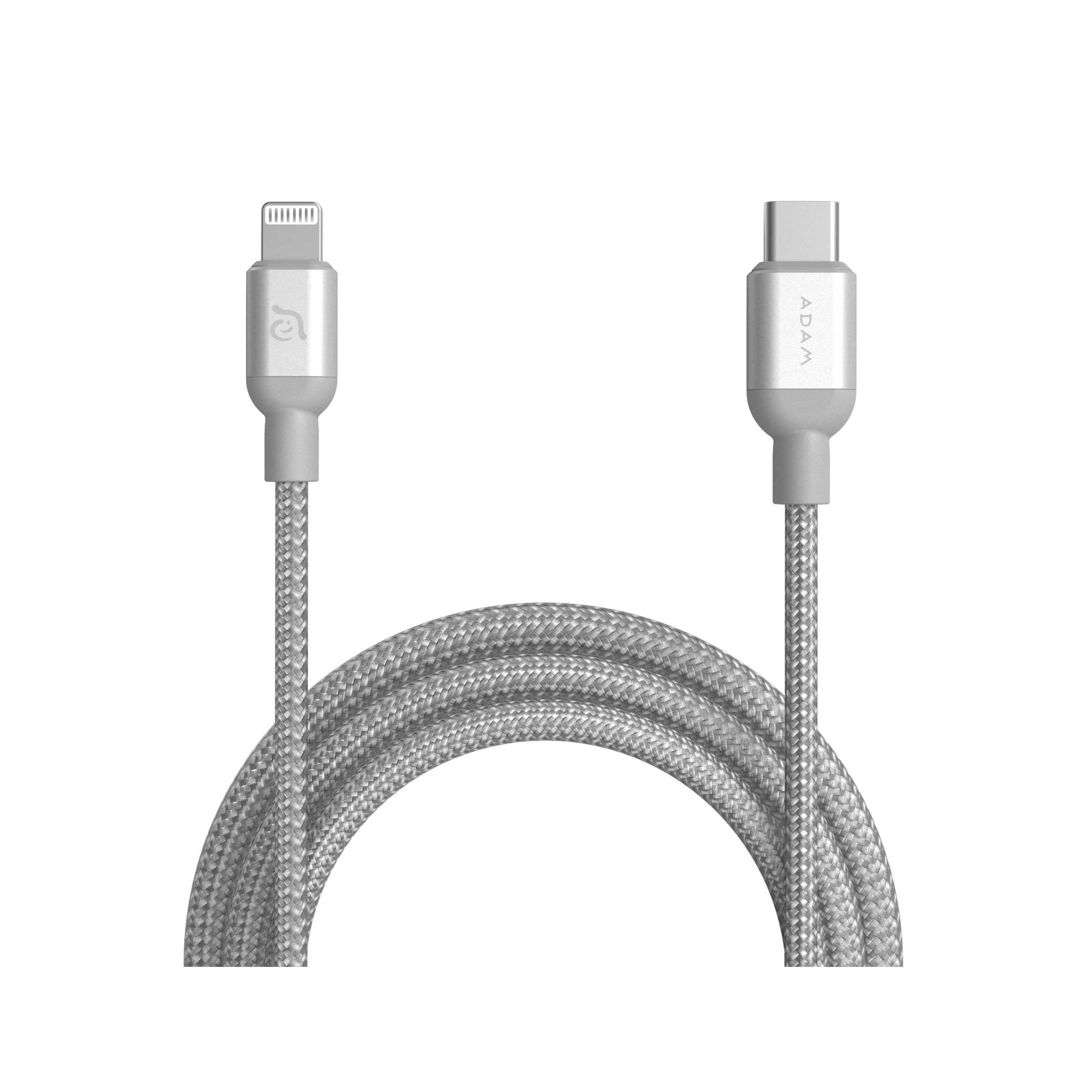 adam elements – Adam elements usb-c til lightning kabel mfi 1,2m sort/sølv farve sølv farve fra mackabler.dk