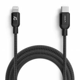 Adam Elements USB-C til Lightning kabel MFi 2m sort