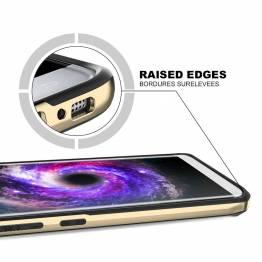ITSKINS bumper cover med klar bagside til iPhone X. Rosa