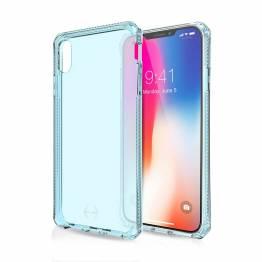 ITSKINS Cover til iPhone Xs Max Gennemsigtigt Blå