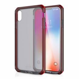 ITSKINS Cover til iPhone Xs Max Gennemsigtigt Frost Grå/Rød