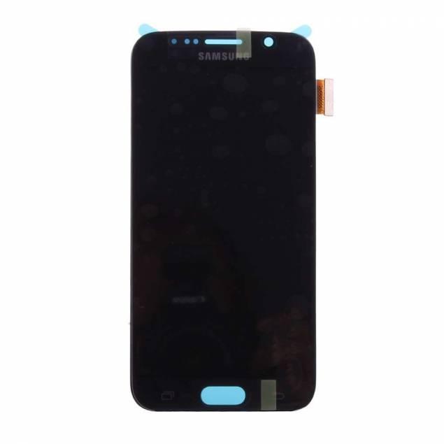 Samsung Galaxy S6 skærm sort. Original - Samsung Galaxy S6 skærm sort. Original.Der kan være mange grunde til, at man pludseligt står med en iPhone eller en anden mobil der pludseligt ikke virker, det skyldes ofte at skærmen ikke virker.