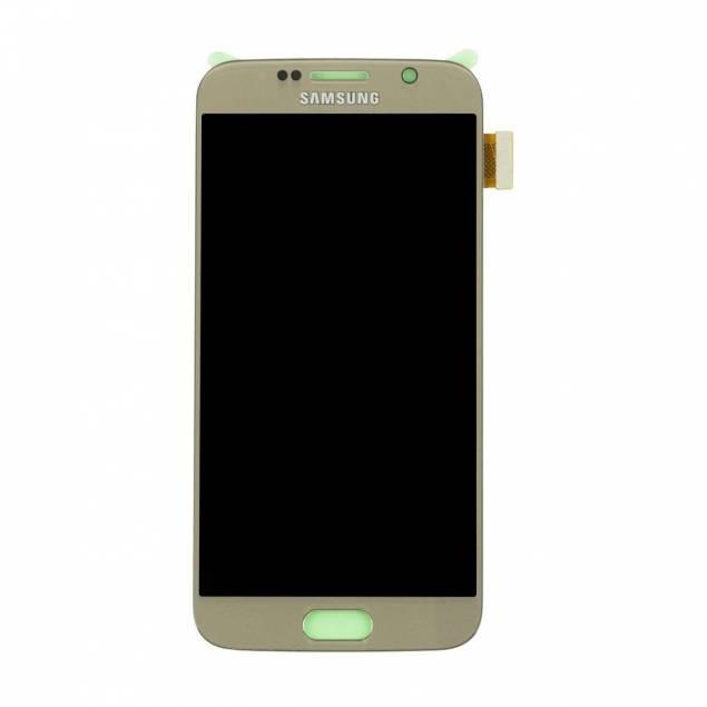 Samsung Galaxy S6 skærm guld. Original - Samsung Galaxy S6 skærm guld. Original.