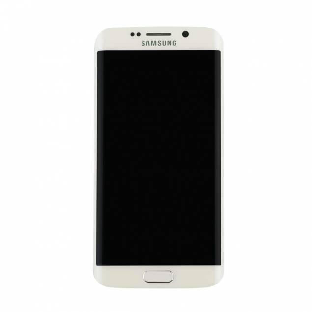 Samsung Galaxy S6 Edge hvid. Semi original - Samsung Galaxy S6 Edge skærm hvid. Semi org..Går skærmen i stykker på din Samsung Galaxy S6 Edge er der heldigvis noget du kan gøre, så som at købe en ny skærm.