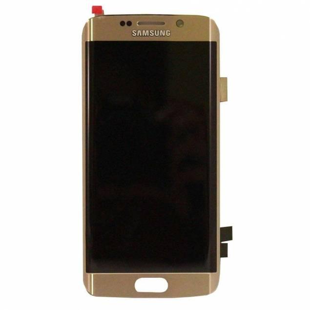 Samsung Galaxy S6 Edge skærm guld. Original - Samsung Galaxy S6 Edge skærm guld. Original.En lækker guld Samsung Galaxy S7 Edge er en skøn ting for øjet, det ser nemlig dejligt og stilet ud. Skift din skærm ud hvis den går i stykker så du hurtigt kan swipe videre.
