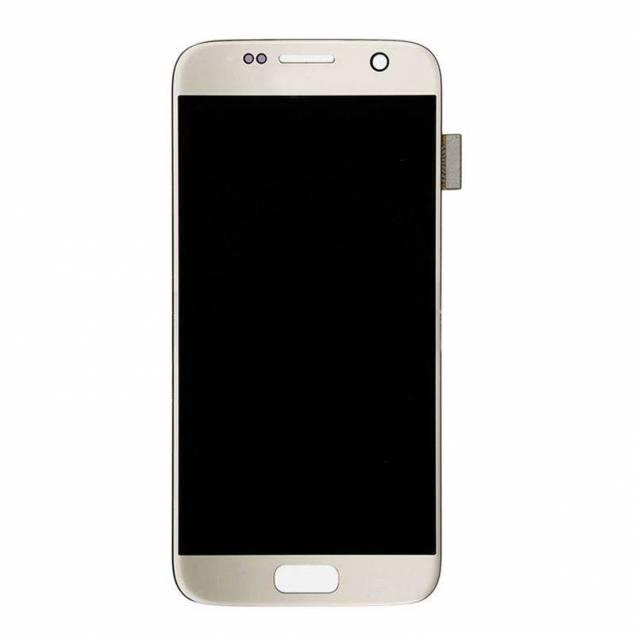 Samsung Galaxy S7 skærm sølv. Original - Samsung Galaxy S7 skærm sølv. Original.Er der noget galt med din skærm på din Samsung Galaxy S7 kan du heldigvis skifte den ud.