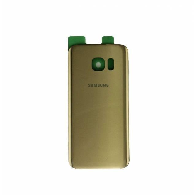 Samsung Galaxy S7 Bagplade guld - Samsung Galaxy S7 Bagplade guld. OEM Original.Uanset om det er fordi du er træt af farven på din iPhone eller fordi den er gået i stykker kan du forsøge dig med en ny bagplade som denne.
