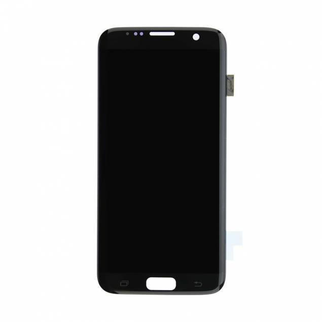 Samsung Galaxy S7 Edge sort. Original - Samsung Galaxy S7 Edge skærm sort. Original.