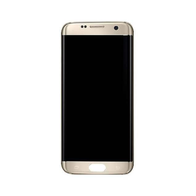 Samsung Galaxy S7 Edge guld. Original - Samsung Galaxy S7 Edge skærm guld. Original.