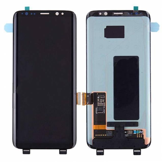 Samsung Galaxy S8 skærm sort. Semi original - Samsung Galaxy S8 skærm sort. Semi Org..Nyd hvordan du pludseligt kan bruge din Samsung Galaxy S8 igen med denne skærm, som du nemt kan sætte på, hvis den oprindelige er gået i stykker. Det er en skærm af semioriginal kvalitet.