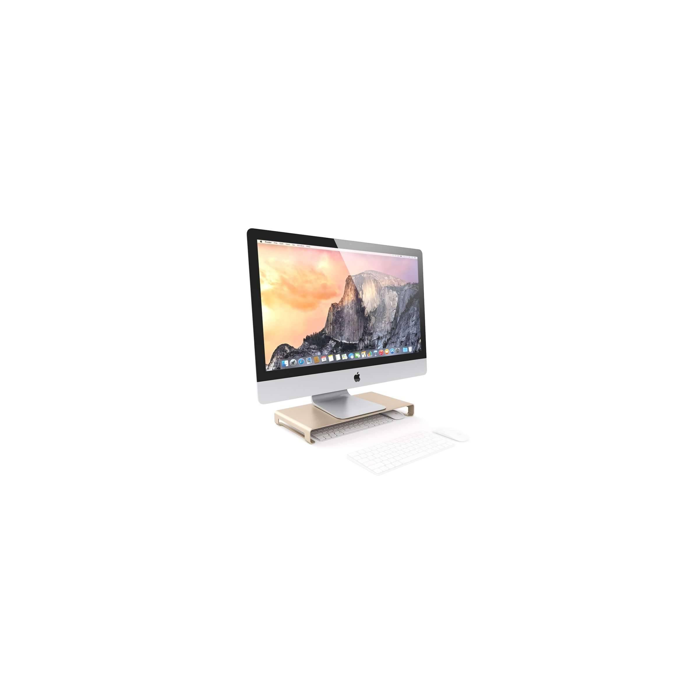 satechi – Satechi aluminum slim skærm/imac stander farve guld fra mackabler.dk