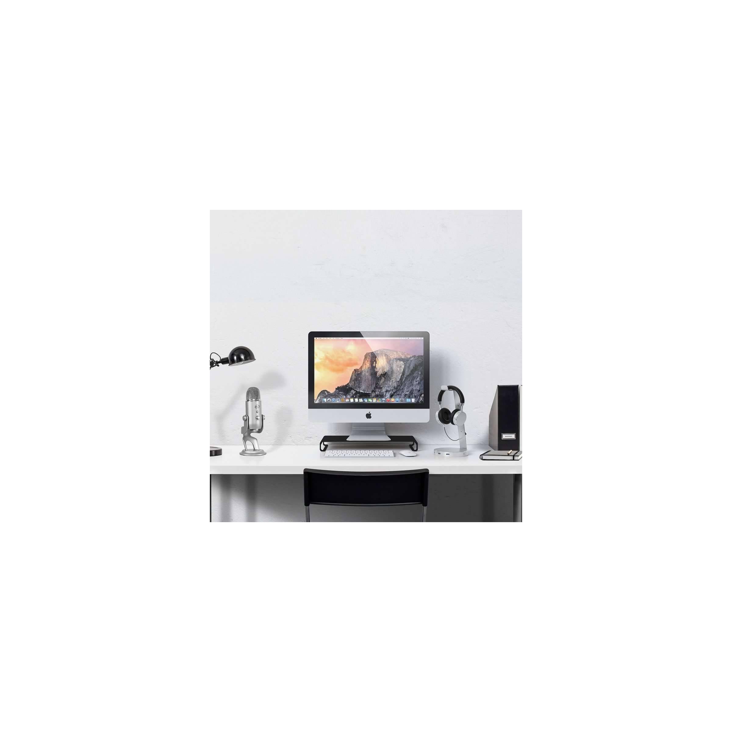 Satechi aluminum slim skærm/imac stander farve sort fra satechi på mackabler.dk