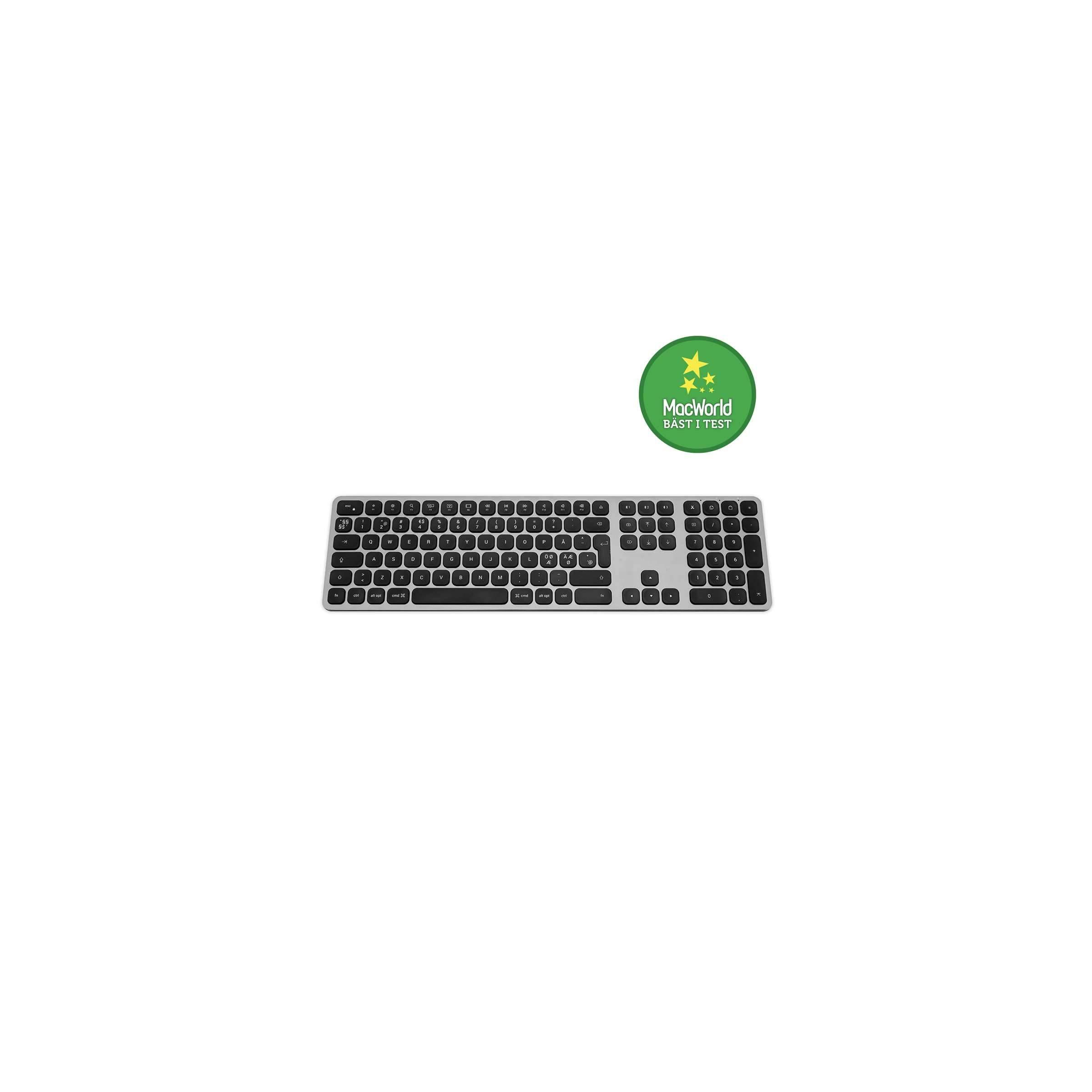 Satechi trådløs bt tastatur nordic layout (m. æøå) farve space grey fra satechi på mackabler.dk