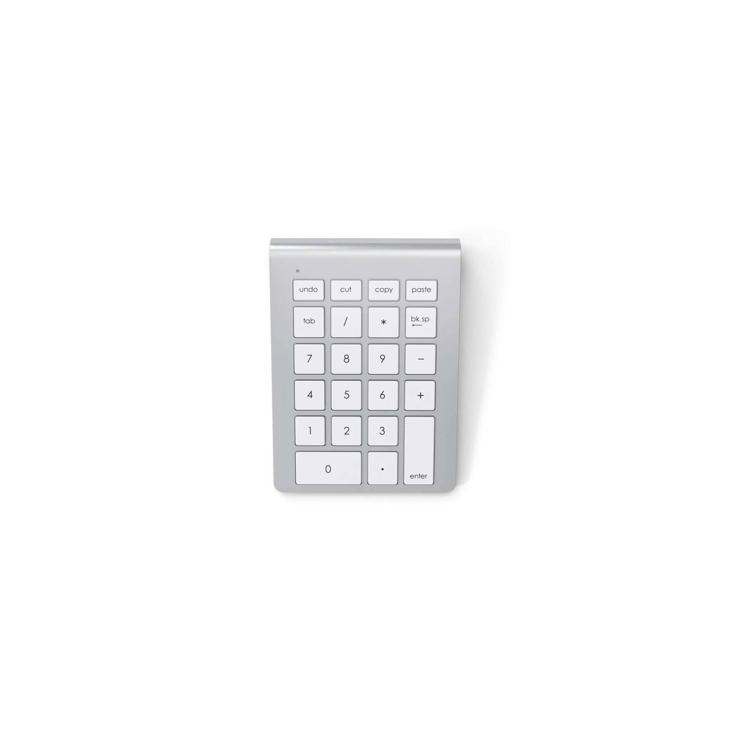 Satechi wireless keypad with copy/paste buttons farve sølv farve fra satechi fra mackabler.dk