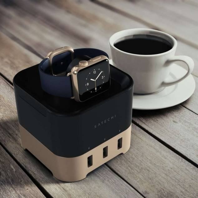 Satechi Smart Charging Stand for Apple Watch 1 & 2, 3, 4 Fitbit Blaze, and Smartphone