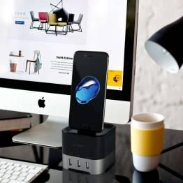 Image of   Satechi Smart oplader Stander til Apple Watch 1 & 2, 3, 4 Farve Space grey