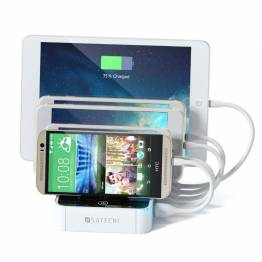Image of   Satechi 5-Port USB Charging Station Dock - Reduces clutter everywhere! Farve Hvid