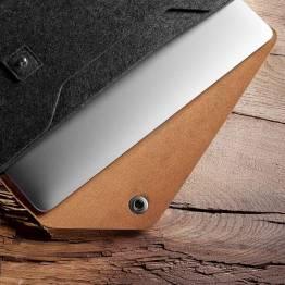 """Image of   Mujjo Sleeve 12"""" Premium cover til MacBook Farve Sort"""