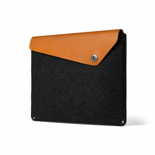 """Mujjo Sleeve 15"""" - Premium sleeve for the new Macbook Pro 15"""" with details of genuine leather"""