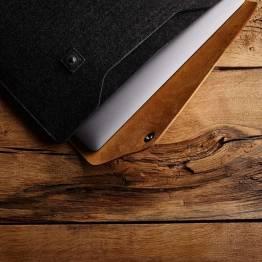 """Image of   Mujjo læder Sleeve 15"""" Premium sleeve til den nye Macbook Pro 15"""" Farve Sort"""