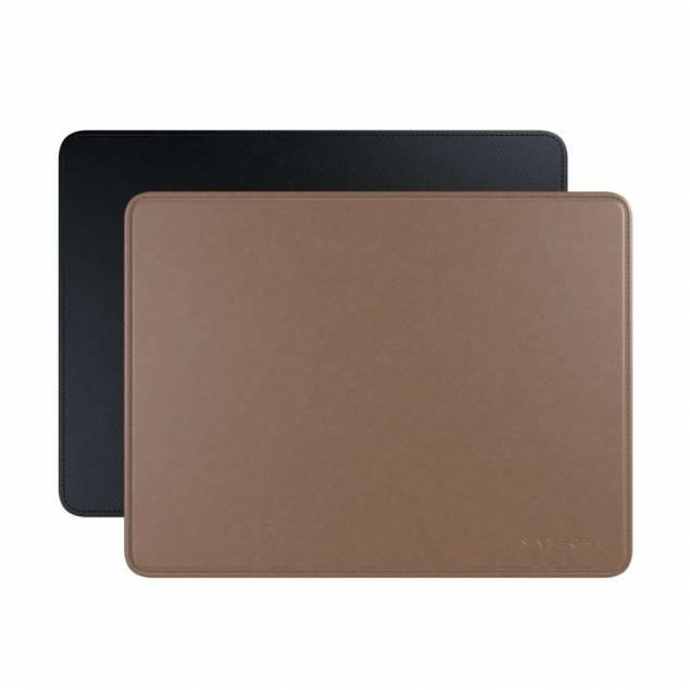 Satechi Eco-læder Mousepad with Base Stitched Edges & Non-slip Rubber Base