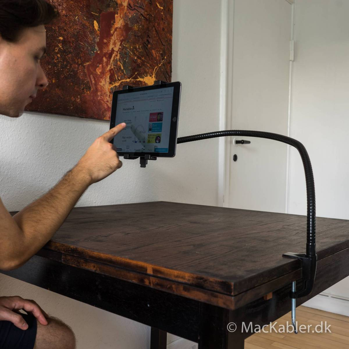 ipad holder til seng FlexiPad iPad holder   MacKabler.dk | PÅ LAGER ipad holder til seng