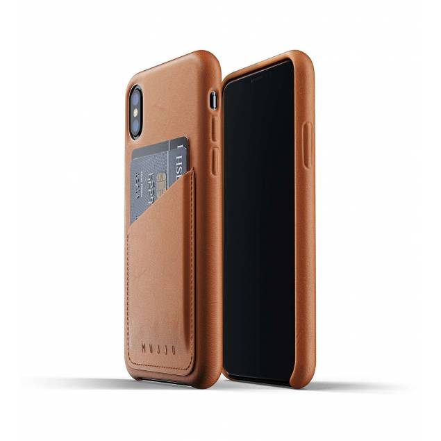 Mujjo Full læder Wallet cover - Wallet cover Genuine leather for iPhone X/XS