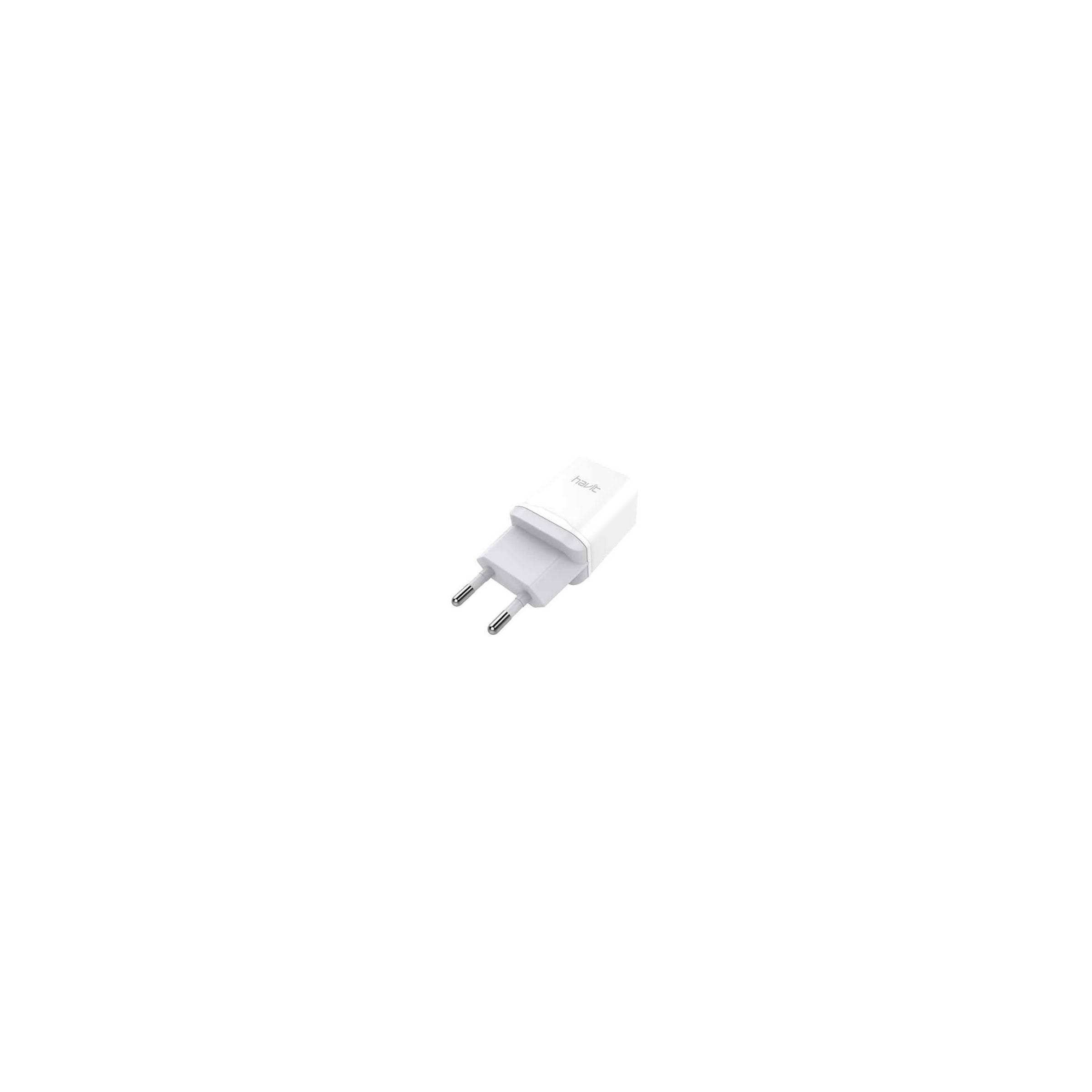Havit iphone/ipad usb x2 oplader 12w hvid fra baseus på mackabler.dk