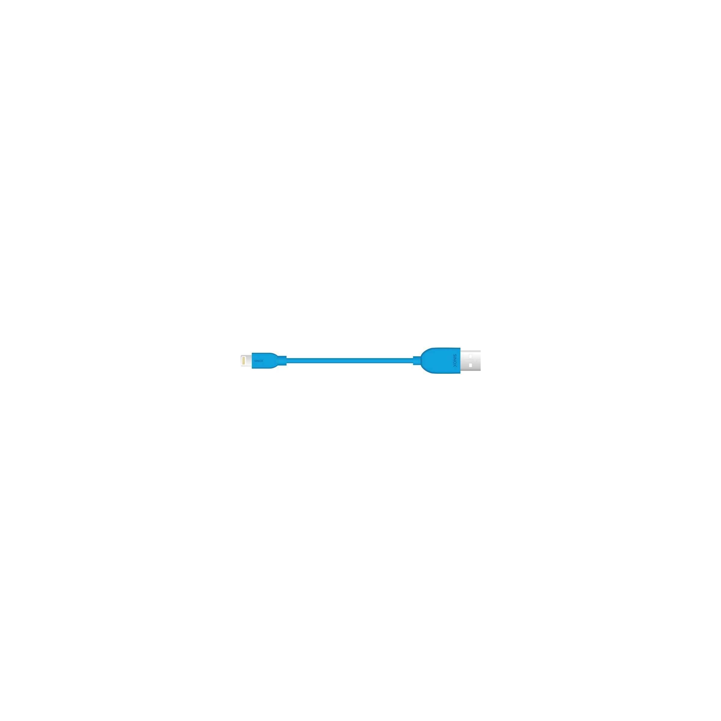 sinox Sinox imedia lightning kabel mfi farve blå, længde 2 meter fra mackabler.dk