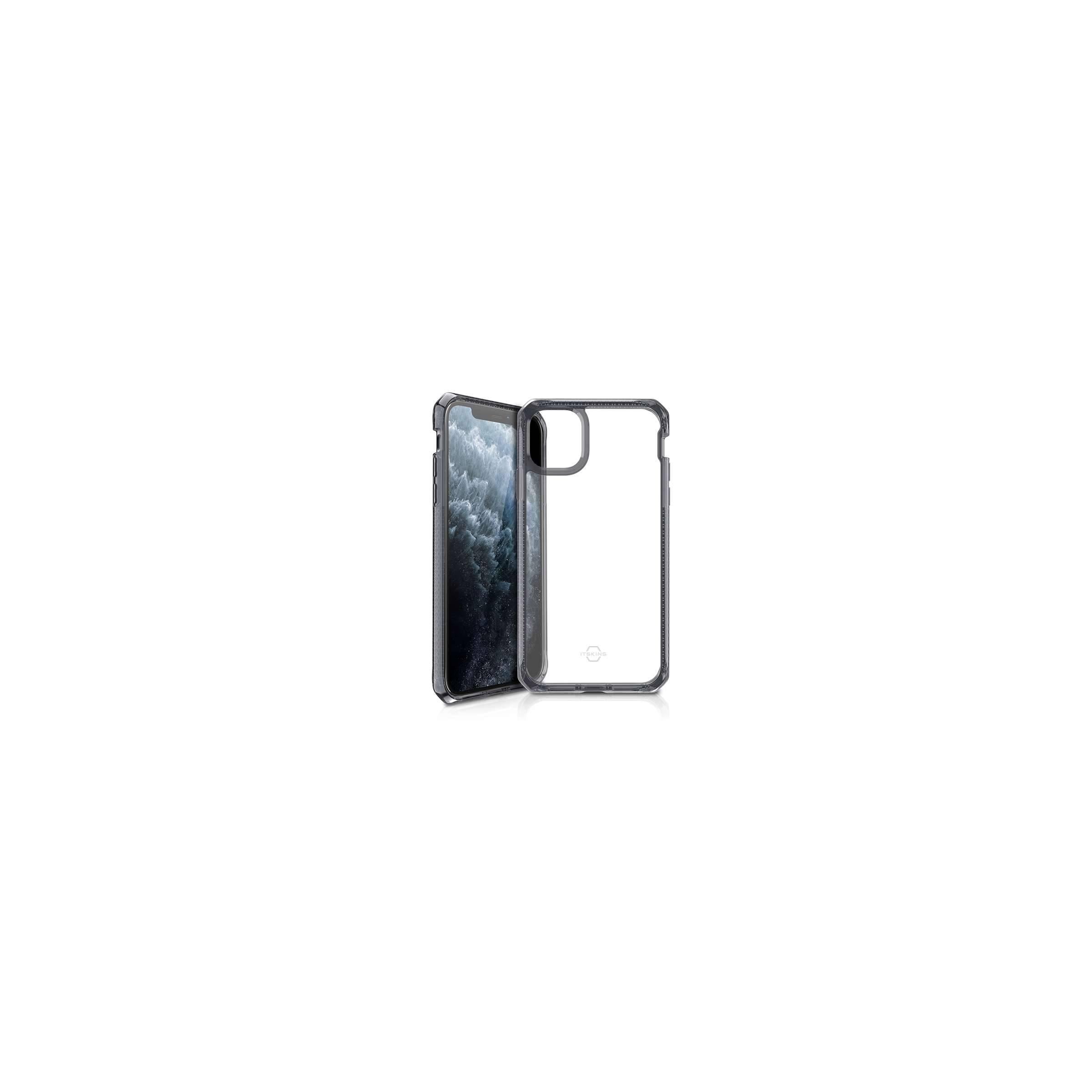 itskins – Hybrid clear cover itskins til iphone 11 pro max gennemsigtigt med sort kant på mackabler.dk