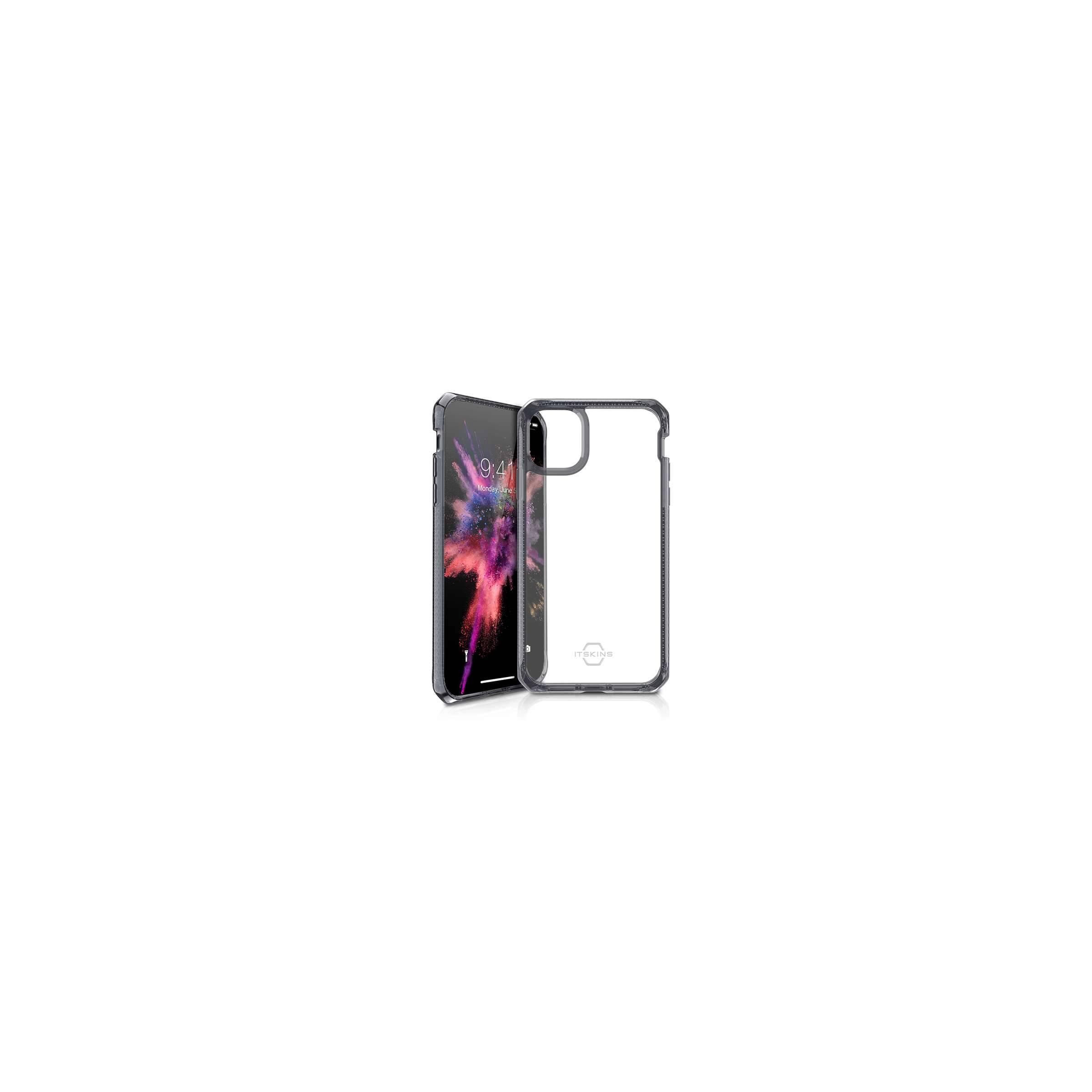 itskins Hybrid clear cover itskins til iphone 11 gennemsigtigt med sort kant fra mackabler.dk
