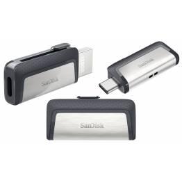 SanDisk Ultra Dual hukommelses USB-C/USB stik