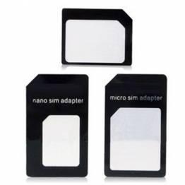 Noosy Sim-adapter 3 i 1 sæt (nano, micro & alm.)