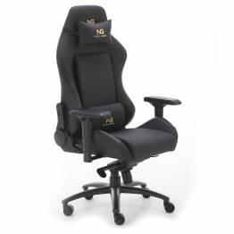 Nordic Gold Premium SE læder Gaming stol i sort