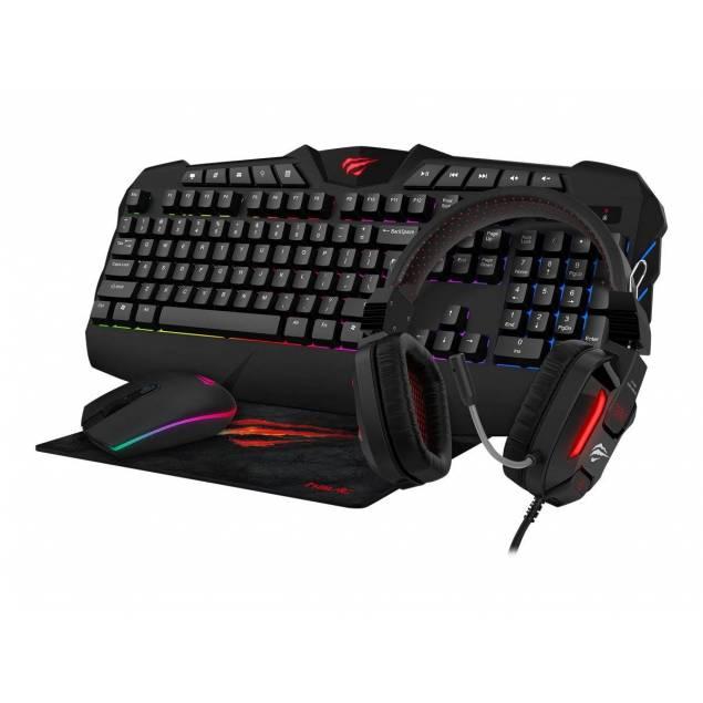 Havit Gaming Bundle - mus, tastatur, headset, muse måtte