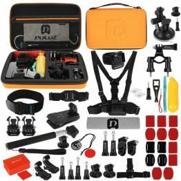 GoPro kit med 53 dele inklusiv taske Puluz