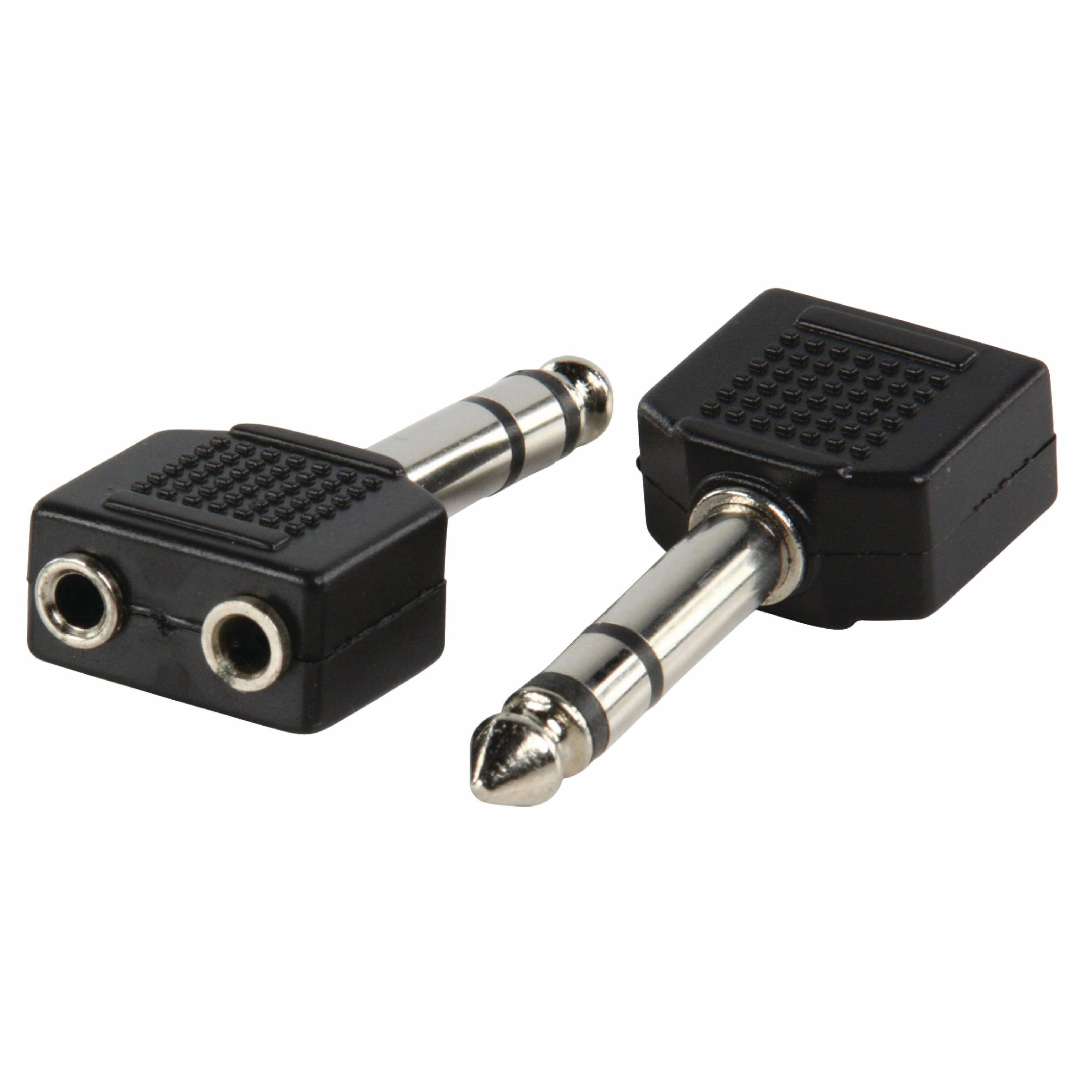 2x mini jack 3,5mm til 1x jack 6,35mm fra goobay fra mackabler.dk